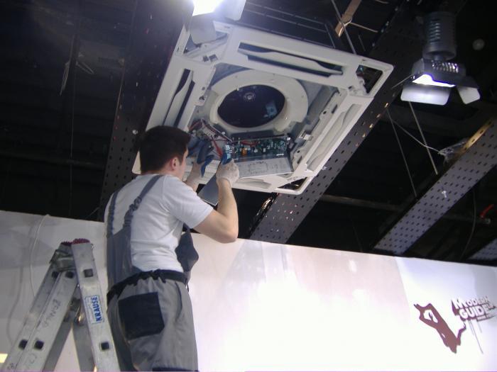 Montaż klimatyzatora kasetonowego