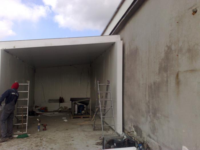 Budowa komory chłodniczej